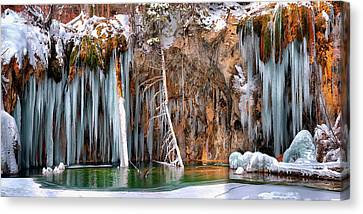 A Spring That Knows No Summer. - Hanging Lake Print Canvas Print