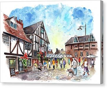 A Square In York Canvas Print