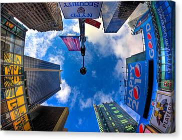 Times Square Canvas Print - A Square Perception by Joshua Ball