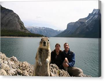 A Squirrel Takes The Shot By Tripping Canvas Print by Melissa Brandts/National Geographic My Shot