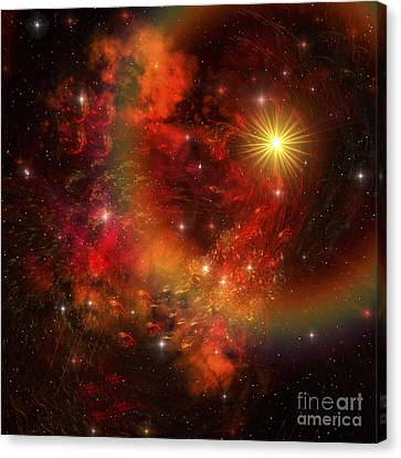 A Star Explodes Sending Out Shock Waves Canvas Print