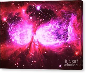 Nebula Canvas Print - A Star Is Born Pink by Johari Smith