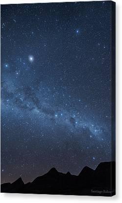A Starry Night Canvas Print by Santiago Rolon