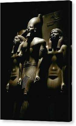 A Statue Of Pharoh Menkaura Canvas Print by Kenneth Garrett