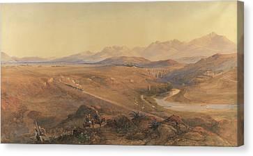 A Steam Train On The Ottoman Railway Canvas Print by David Hall McKewan