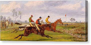 A Steeplechase  Canvas Print by Thomas Henry Alken