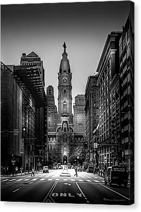 A Step Above B/w Canvas Print by Marvin Spates