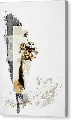 A Still Life - Coreopsis Canvas Print by Rosemary Smith