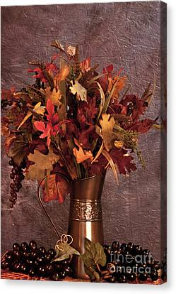A Still Life For Autumn Canvas Print by Sherry Hallemeier