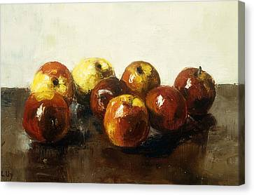 A Still Life Of Apples Canvas Print
