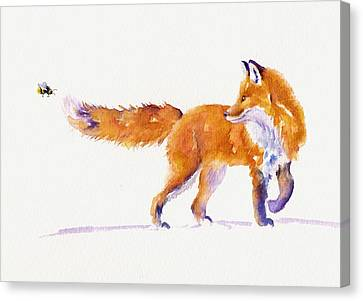 Bushy Tail Canvas Print - A Sting In The Tail by Debra Hall