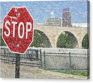 Pillsbury Canvas Print - A Stop At The River by Susan Stone