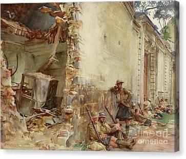 A Street In Arras, Wwi Canvas Print