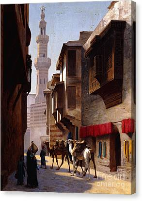A Street In Cairo Canvas Print by Jean Leon Gerome