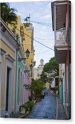 A Street In Colorful Old San Juan Canvas Print by Taylor S. Kennedy