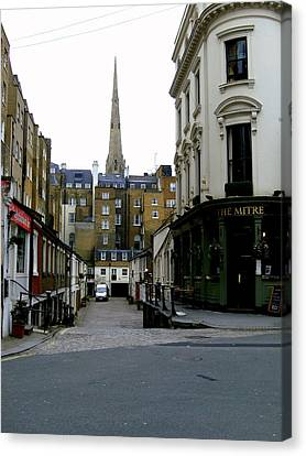 A Street In London Canvas Print by Mindy Newman