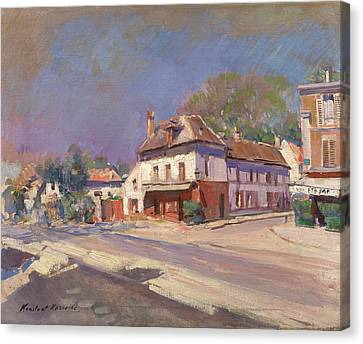 A Street In The South Of France Canvas Print by Konstantin Korovin