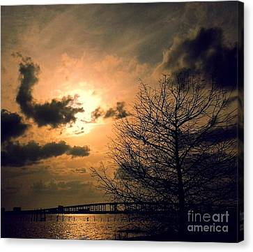 A Stroll Along Front Beach Canvas Print by John Thornburg
