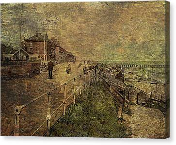 A Stroll Along The Seafront Canvas Print by Sarah Vernon