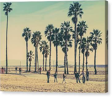 A Stroll Down Venice Beach Canvas Print by Az Jackson