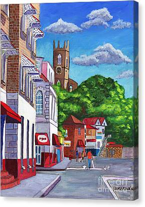 A Stroll On Melville Street Canvas Print