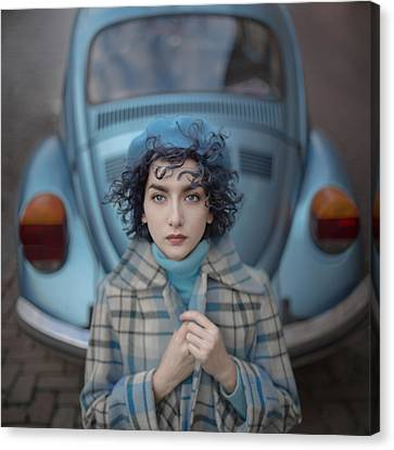 A Study In Blue Canvas Print by Anka Zhuravleva