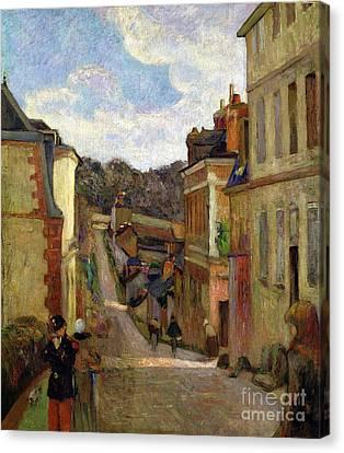 1848 Canvas Print - A Suburban Street by Paul Gauguin