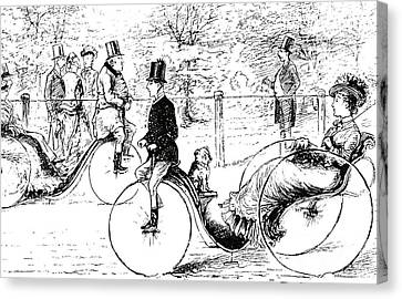 A Suggestion For The Park  Vintage Illustration From Punch Magazine 1878 Canvas Print