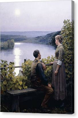 A Summer Evening Canvas Print by Daniel Ridgway Knight