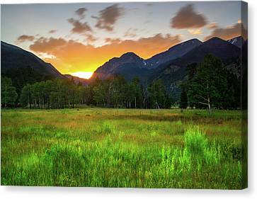 Canvas Print featuring the photograph A Summer Evening In Colorado by John De Bord