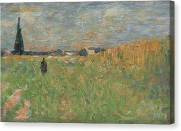 A Summer Landscape Canvas Print by Georges Seurat