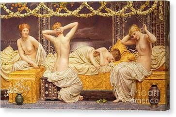 1890 Canvas Print - A Summer Night by Albert Joseph Moore