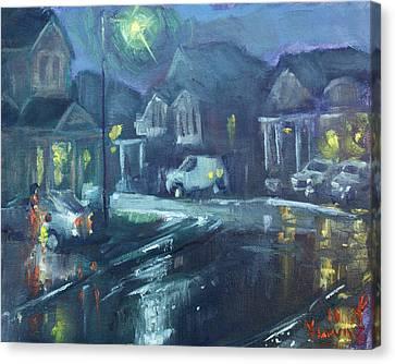 A Summer Rainy Night Canvas Print by Ylli Haruni