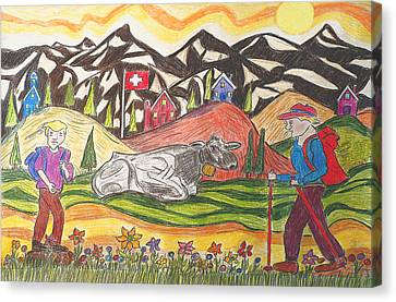 A Summers Trail Canvas Print by Monica Engeler