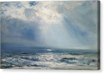 A Sunbeam Over The Sea Canvas Print by Henry Moore