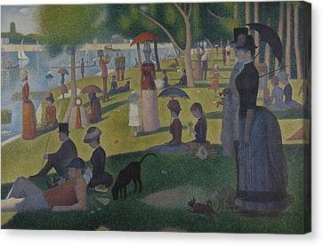 Seurat Canvas Print - A Sunday Afternoon On The Island Of La Grande Jatte by Georges-Pierre Seurat