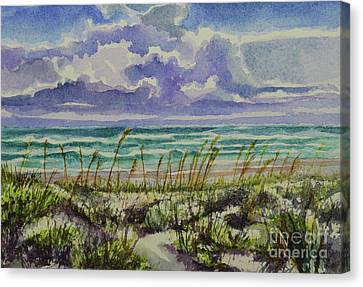 A Sunny Beautiful Day At The Beach Canvas Print