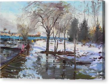 A Sunny Freezing Day Canvas Print by Ylli Haruni