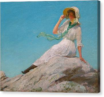 A Sunny Morning  Canvas Print by Charles Courtney Curran