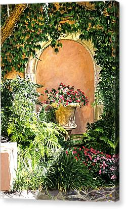 A Sunny Nook Hotel Bel - Air Canvas Print by David Lloyd Glover