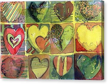 A Sunny Valentine Canvas Print by Mindy Newman