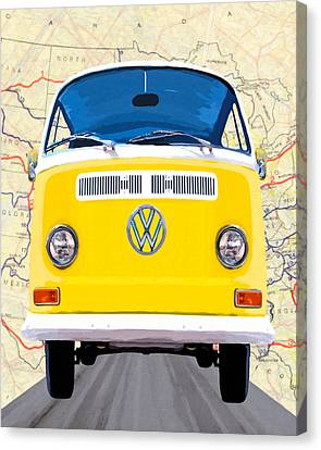 A Sunny Yellow Disposition Canvas Print by Mark Tisdale
