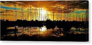 Canvas Print featuring the photograph A Sunrise Forever by John King