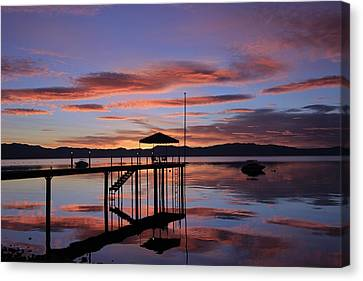 Canvas Print featuring the photograph A Sunrise To Wake The Dead  by Sean Sarsfield
