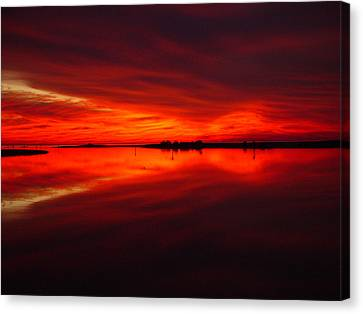 A Sunset Kiss -debbie-may Canvas Print by Debbie May