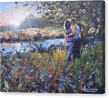 A Sunset Remembered Canvas Print by Douglas Trowbridge