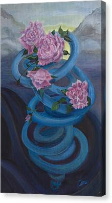 A Swirl Of Roses Canvas Print by Ione Citrin