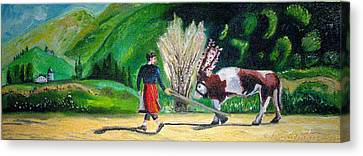 Swiss Girl Canvas Print by Patricia Arroyo