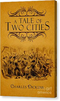 A Tale Of Two Cities Book Cover Movie Poster Art 1 Canvas Print by Nishanth Gopinathan