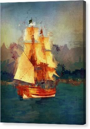 A Tall Ship Canvas Print